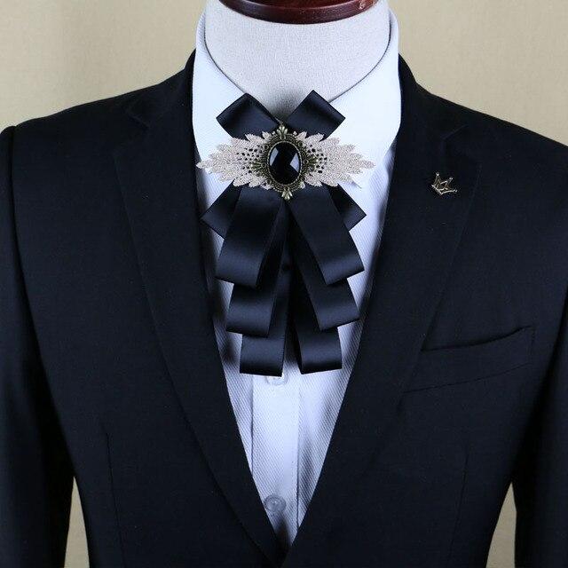 New Free Shipping Fashion Casual Men S Male Multilayer Diamond Collar Bow Tie Wedding Groom Groomsmen Original