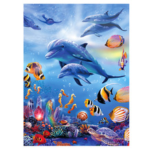 DIY Diamond Painting sea kingdom turtle dolphin fish full embroidery animal coral painting Mosaic