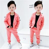 Boys BlackBlazer 2 pcs/set Wedding Suits for Boy Formal Dress Suit Boys wedding suit Kid Tuxedos Page boy Outfits 2pieces