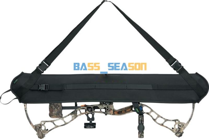 Černý neoprenový lovec luk nosník závěs složený luk pouzdro lukostřelba pás lovecký závěs