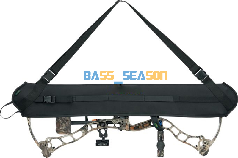 Black Neoprene Hunting Bow Carrier Sling Compound Bow Holster Archery Belt Hunting Sling