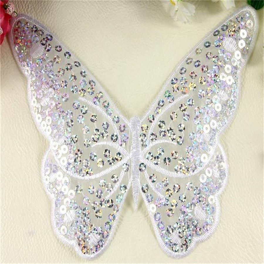 ღ ღ1 unids Fashion designs 17 cm mariposa logotipo bordado Parches ...