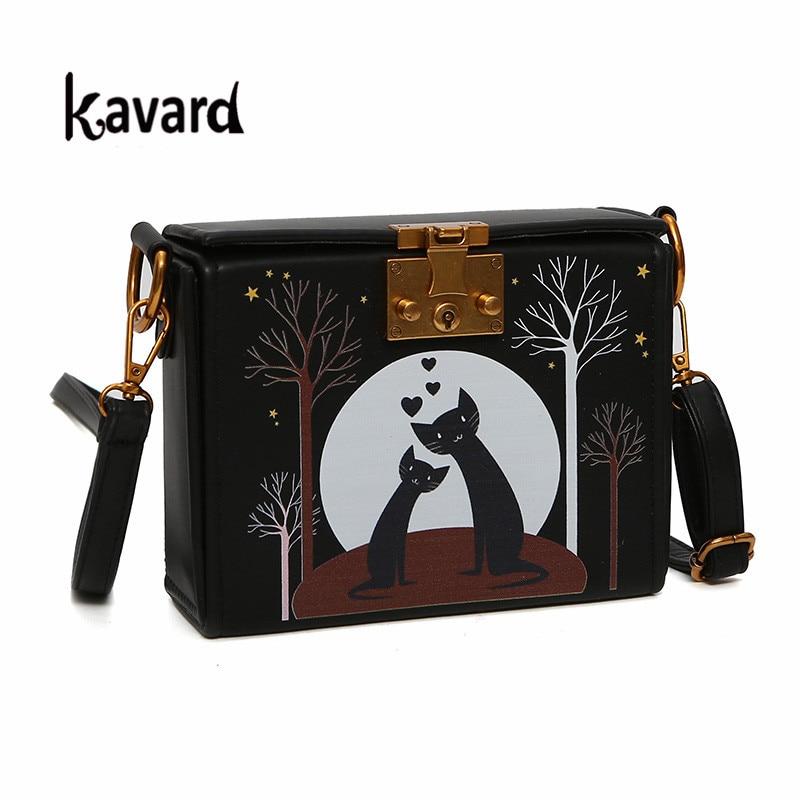 Mini Box Bag cat Cartoon Fashion bag handbag women crossbody bags for women 2017 luxury handbag