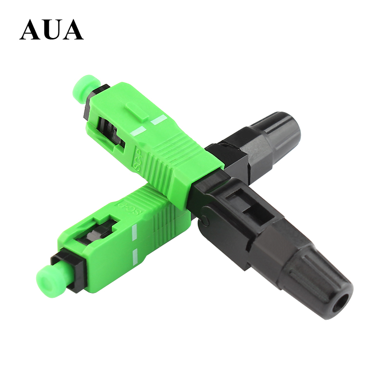 10PCS pack Ftth Embedded quick assembly connector SC APC covered wire fiber optic connector APC special
