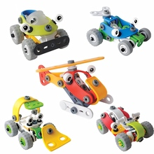 Creative Assembled Model Toy Car DIY Screw Nut Group Installed Puzzle Deformation Car Construction Toys Set for 3year Boys Gift