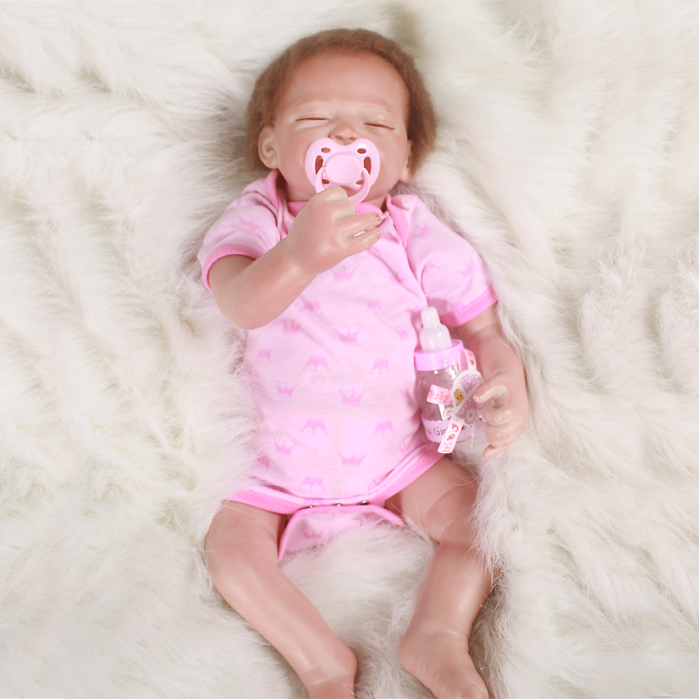 50cm Kawaii BeBe Reborn Doll PP Cotton Body Silicone Dolls Babies Lifelike Newborn Baby Gift Juguetes Kid Toys Brinquedos