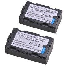 Tectra 1100 мА/ч, 2 шт. CGR-D120 CGR-D08S CGR D120 CGRD120 Батарея для цифрового фотоаппарата Panasonic CGA-D54 PanasonicAG-DVC15 NVDA1B PV-DV402 Батарея