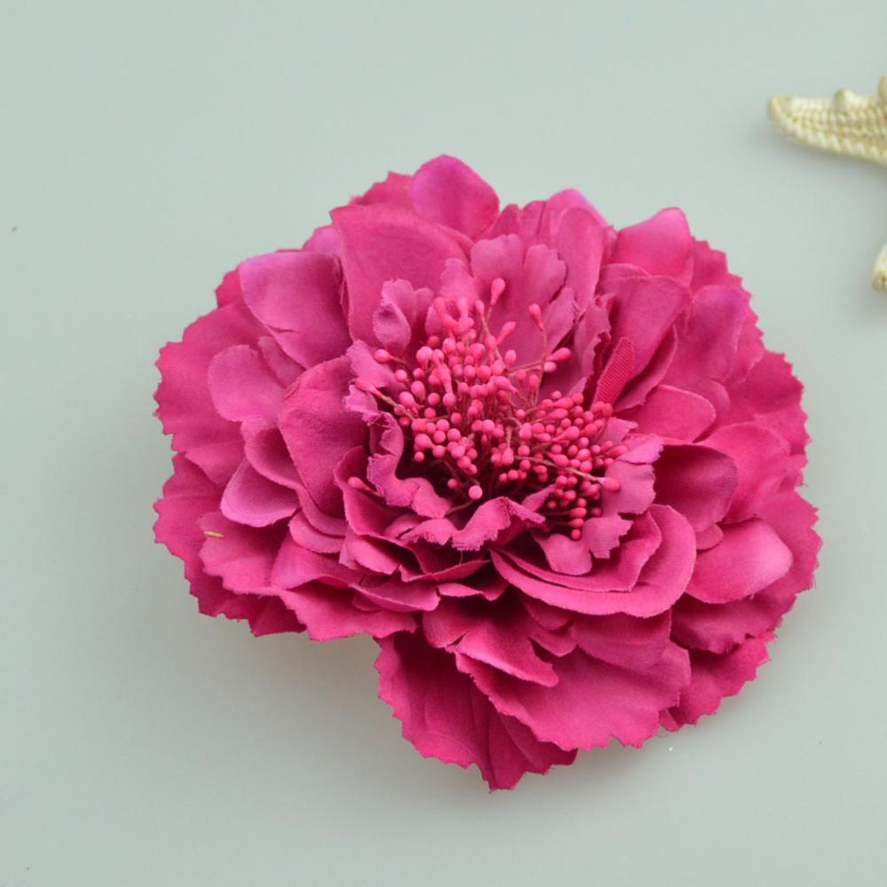 Fashion Hair flower Hair Accessories Fabric Flower Hair Clip Flower Corsage Brooch Pins Women Flower   Headwear   Wedding Party Gift
