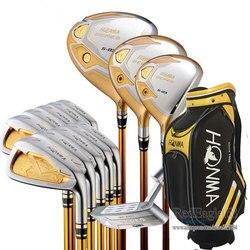 Новый клубный набор Compelete HONMA S-03, 4 звезды, для гольфа, для водителей, для фарватера, деревянные утюги, сумка для клюшки, графитовый Вал для гол...