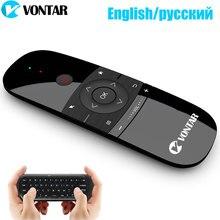 2.4Ghz Air Mouse Tastiera Senza Fili di Telecomando Inglese/Russo 6 Asse di Rilevamento del Movimento di Apprendimento IR per Android TV BOX/Mini PC