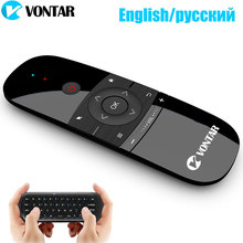 2.4Ghz hava fare uzaktan kumanda kablosuz klavye İngilizce/rusça 6 Axis hareket algılama IR öğrenme Android TV kutusu/Mini PC