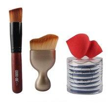 Hot Sale 10Pcs Makeup Brush Make-up Sponge Make Up Foundation Brush Professional High Quality Beauty Essentials maquiagem 8.28