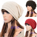 NEW Unisex Womens Mens Knit Baggy Beanie Hat Winter Beret Hat Ski Cap