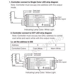 Image 4 - MiBOXER DL5 DALI 5 IN 1 LED di Controllo della Striscia, DC 12 ~ 24V Collegamento anodo Comune, telecomando compatibile/DALI Bus Potenza Supplly