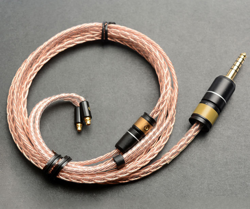 Hand Made DIY 4.4MM 8 Cores Single Crystal Copper Silver Plated Updated MMCX Cable for SE525 SE846 UE900 Sony Astell&Kerns ONKYO hand made custom diy 6n 8 cores copper silver mixed updated hifi mmcx audio cable for se215 315 se535 ue900 la l3 l4 dt2 k3 hd
