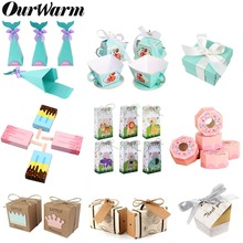 OurWarm Paper Gift Box Packaging Baby Shower Candy Wedding Favors and Gifts for Guest Boy Girl Birthday Party Decorations