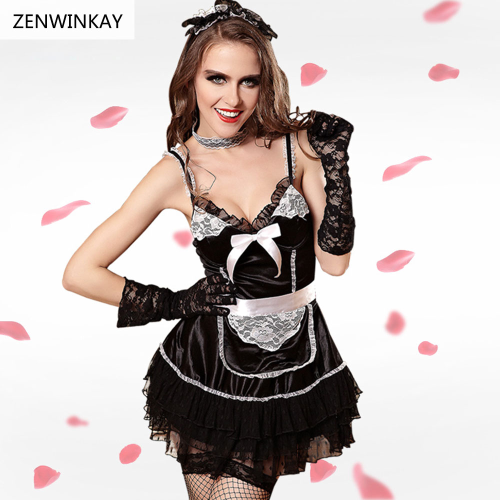 Wear Sex Clothes Sexy Cosplay Costumes Women French Maid -1647