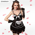Wear Sex Clothes Sexy Cosplay Costumes Women French Maid Lingerie Adult Role Play Sexy Maid Outfits French Maid Lingerie Set