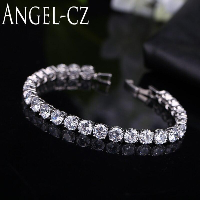 ANGELCZ klasszikus kerek 0,5 karátos CZ Diamante ezüst színű - Divatékszer