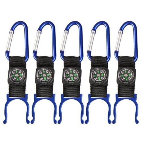 5 шт. (5 черный Карабин воды держатель для бутылок Клип ремешок Вт/Компасы camp