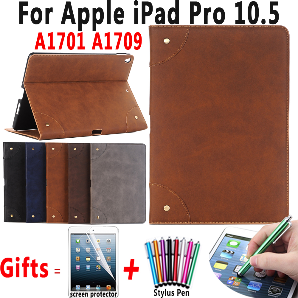 Retro Leather Case for Apple iPad Pro 10.5 inch Smart Sleep Wakeup Shell Cover For iPad Pro 10.5 A1701 A1709 Coque Capa Funda case for ipad pro 10 5 ultra retro pu leather tablet sleeve pouch bag cover for ipad 10 5 inch a1701 a1709 funda tablet case