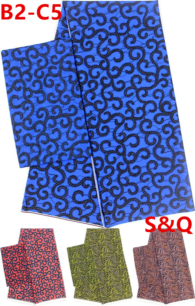High quality 2 4yards silk chiffon fabric african fabric ankara fabric african wax prints fabric nigerian