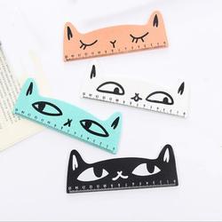 Новые творческие в форме кошки деревянная Линейка Канцелярские принадлежности Школьные принадлежности