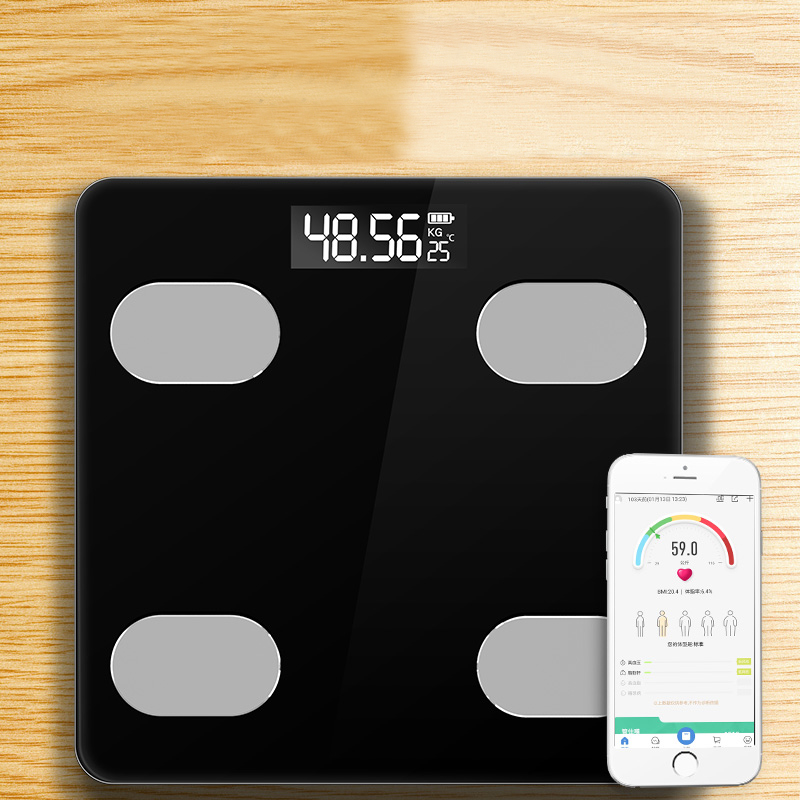 Smart Home Bathroom Scales LED Screen Body Grease Electronic Weight Scale Body Composition Analysis Health Scale 1