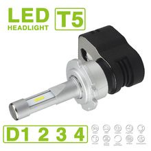 1 Set D1S D2S D3S D4S Turbine T5 LED Headlight Lamps 60W 9600LM CSP Y19 Chips
