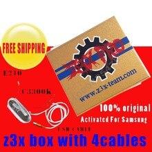 Z3X Box aktiviert für samsung und pro mit 4 Kabel c3300k/typ c/USB/E210 für neue update S6 s5 Note4 freies verschiffen