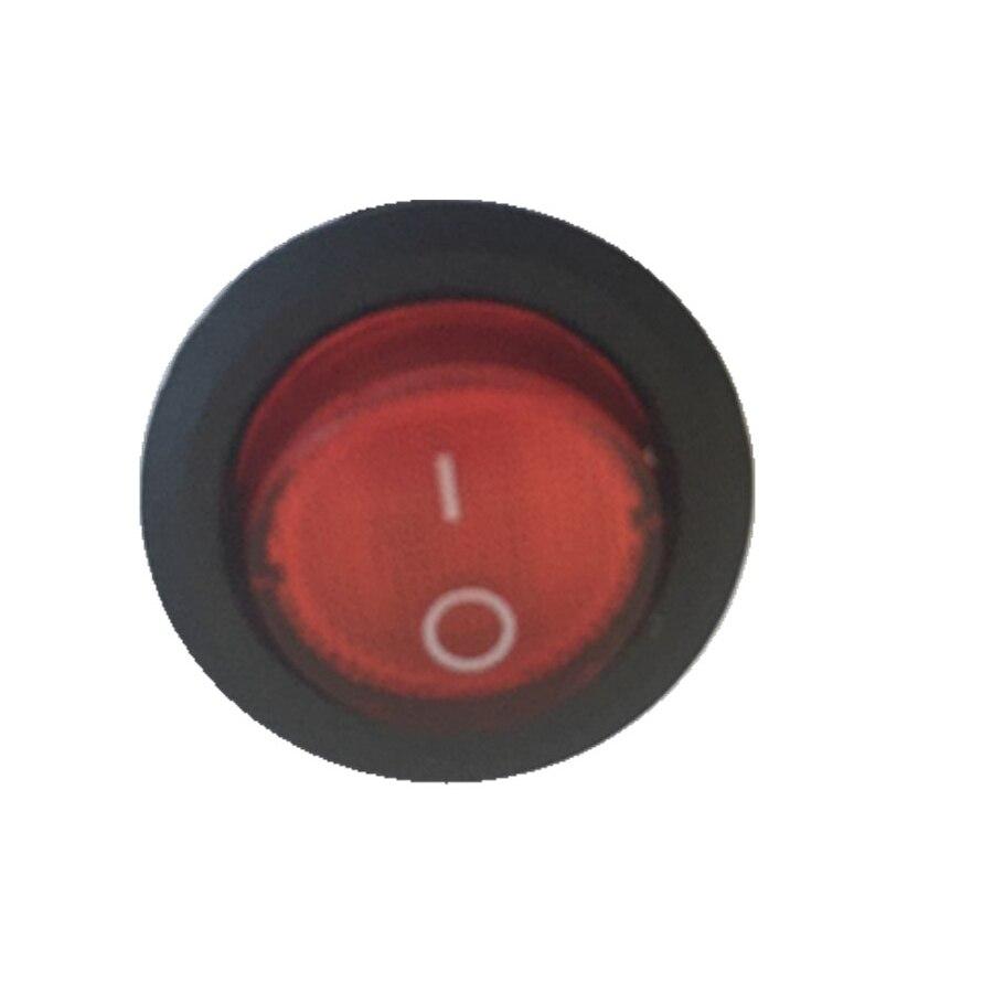 Geçiş anahtarı Dia.23mm Rocker Anahtarı SPST 125 V Panel Montaj yuvarlak rocker anahtarı 3 pin delik 6-10A AC125-250V, 50 adet/grup