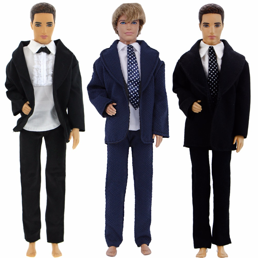 High Quality Mens Outfit Wedding Party Wear Blazer Coat Shirt Trousers Clothes For Barbie Doll Friend Ken Doll Accessories Gifts 1pc long sleeve shirt for blythe dolls base shirt clothes for barbie blouse momoko doll clothes 1 6 doll accessories