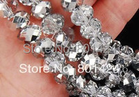 Assorted China Top AAA Quality 5040 Half Silver Plated Crystal Beads Free Shipping 300pcs 4MM 6MM