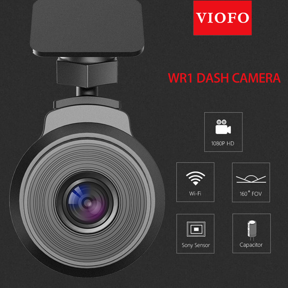 VIOFO WR1 Capacitor Full HD 1080P Dash Camera HD DVR Loop Recording Night Vision Car DVR Video Recorder With Built-in Wi-Fi
