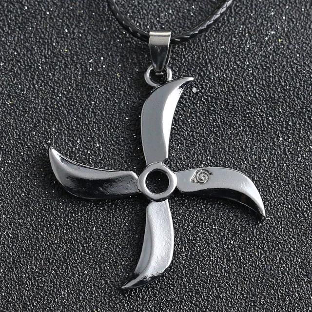 Naruto Uchiha Sasuke Shuriken Necklace (30 Pcs/Lot)