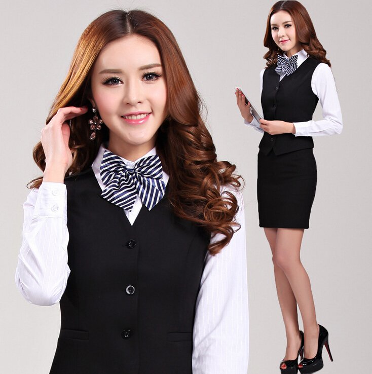 Work Fashion Slim With Size Waistcoat Black Uniforms wine Beautician Professional New Skirt Plus Xxxl Femininos Suits 2015 Elegant Iq0PYxz