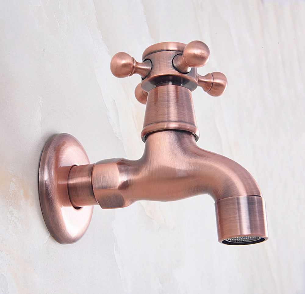 صنبور خارجي نحاسي أحمر عتيق حنفية مياه للحديقة/ممسحة حمام السباحة/مغسلة الغسيل حنفية مياه باردة صنبور بيدكوك باف330
