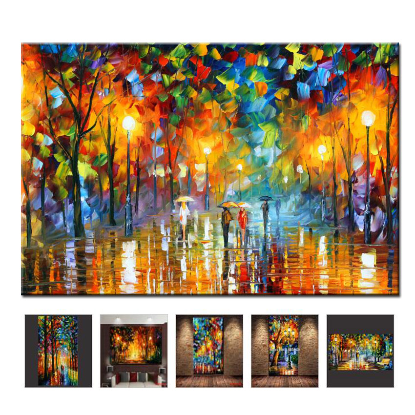 2019 Lukisan Nyata Hand Painted Painting Oil Canvas Pasangan yang Indah Untuk Ruang Tamu Wall Art Home Decor Abstrak Picture No Frame