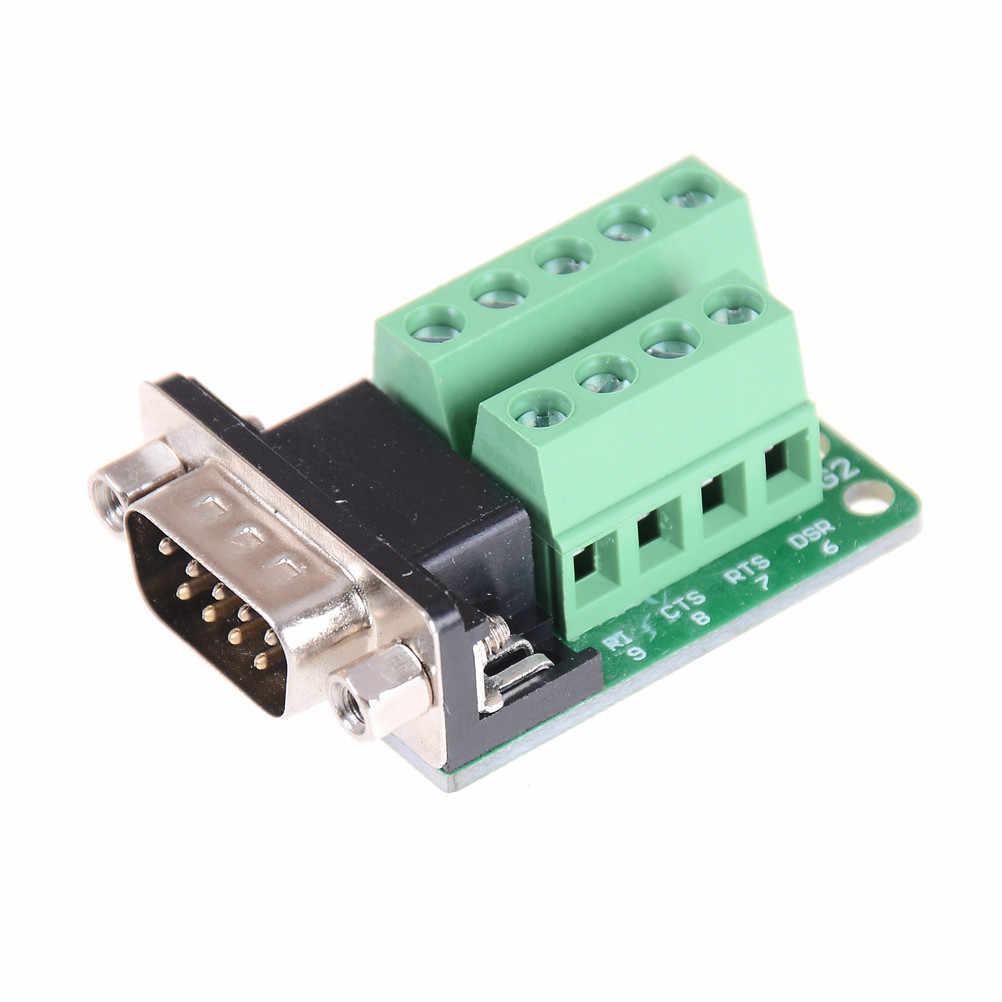 1 ピース新発売 DB9 コネクタ端子モジュール RS232 RS485 アダプタ信号インタフェースコンバータオス Com D サブ 9Pin