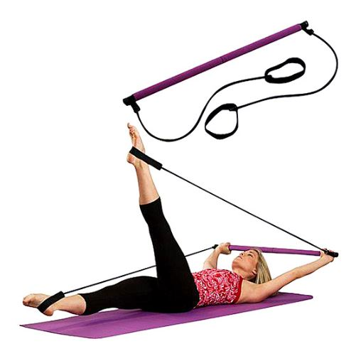 Gym Stick Yoga Exercise Bar Pilates Trainer Fitness Rods Resistance Rope Equipment Pullup Barra