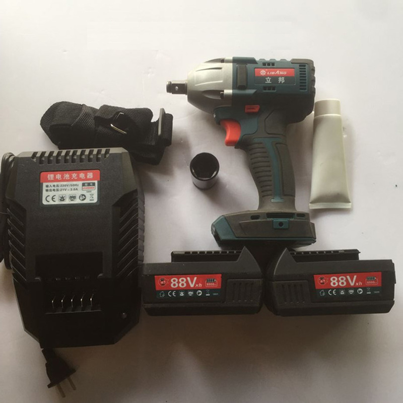 Electric Wrench, Brushless Impact Wrench, Lithium-charged Rack Woodworking Sleeve Wind Gun Installation Tool