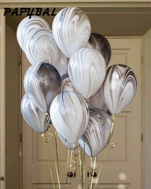 10pcs/lot 12inch Rainbow Printed Latex Balloons Helium Inflatable Air Balls Wedding Decoration Birthday Party Balloon Supplies