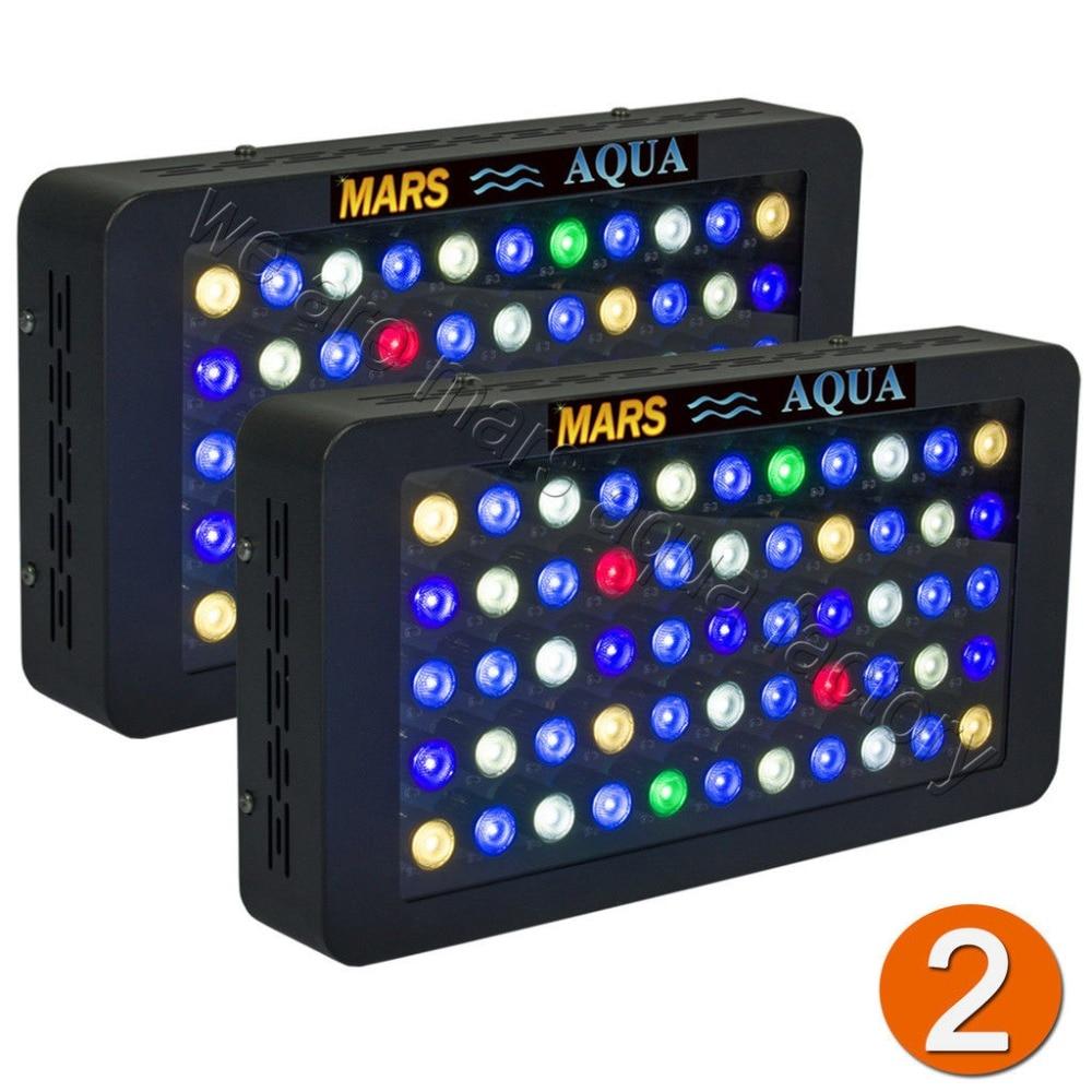 2pcs Dimmable 165W Aquarium Led Lighting Full Spectrum Coral reef Fish tank