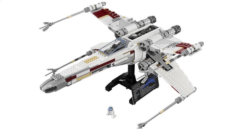 ФОТО bricks 05039 1586pcs Genuine New Star War Series The X-wing Red Five Starfighter Set Building Blocks Bricks Toys 10240