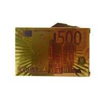 Ein Deck Spielkarten Wasserdichte Kunststoff Goldfolie Poker farbe 500 Euro Stil Gute Geschenk für Unterhaltung Casino Karten