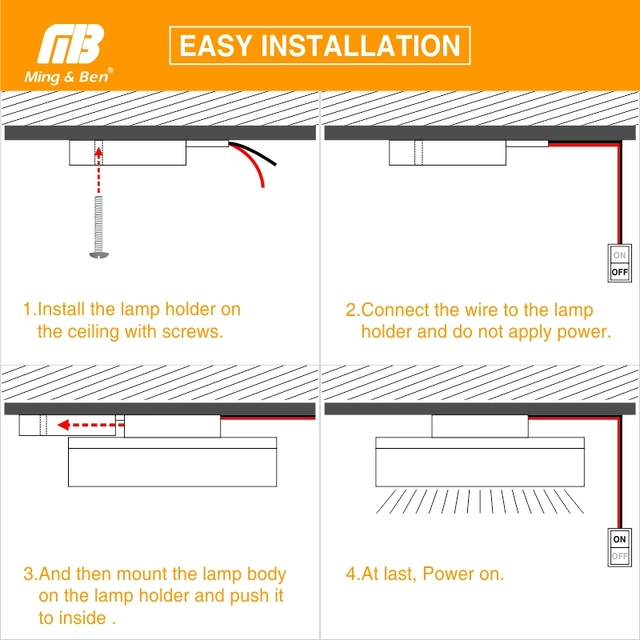 LED Panel Lamp LED Ceiling Light 48W 36W 24W 18W 13W 9W 6W Down Light Surface Mounted AC 85-265V Modern Lamp For Home Lighting 6