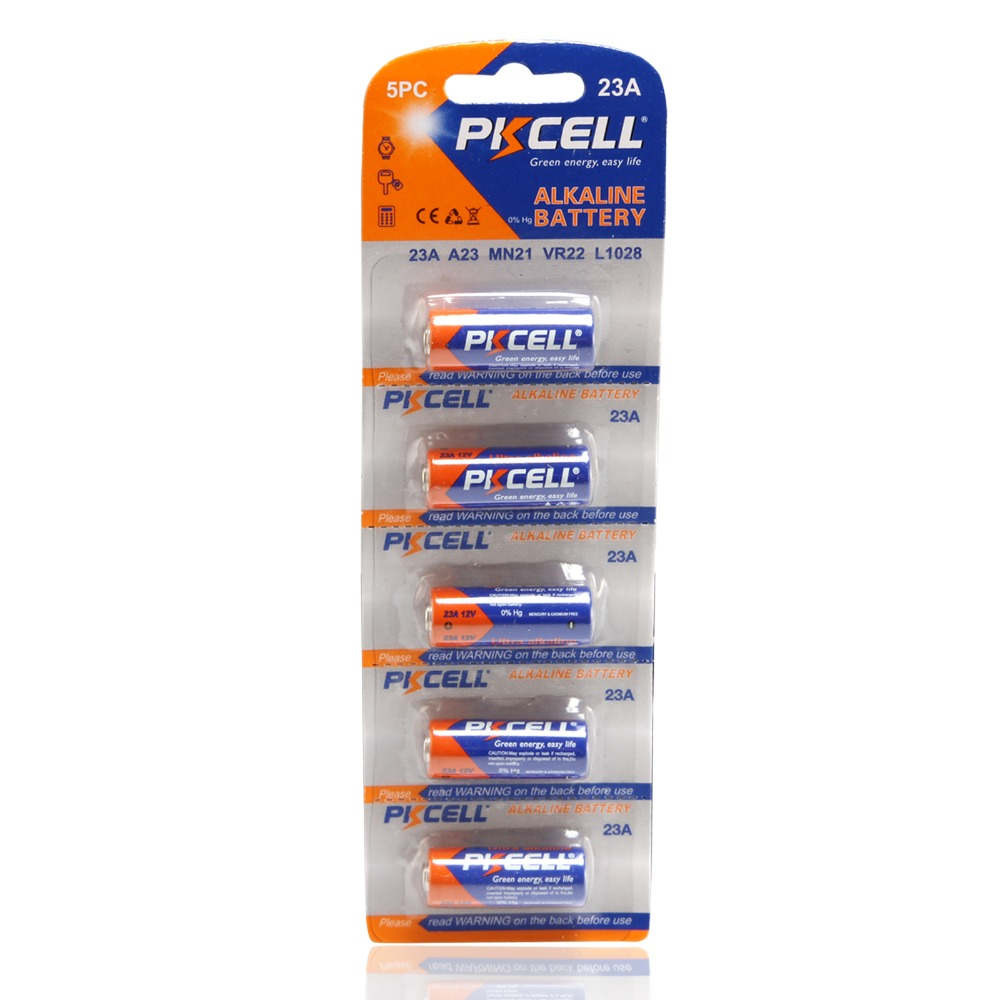 PKCELL 5PCS/Pack <font><b>A23</b></font> <font><b>12V</b></font> 23A Replace Batteries Ultra Alkaline Battery High Voltage Battery <font><b>A23</b></font> MN21 23GA MN21 23AE VR22 L1028 image
