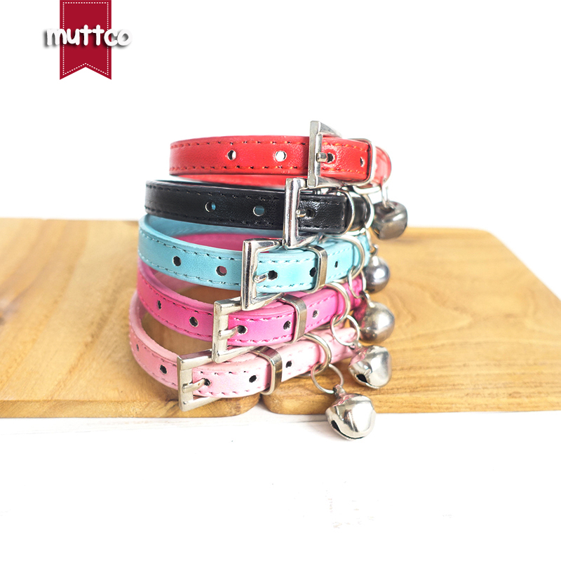 20pcslot creative solid-colored metal button dog collars humanized beefy 2 sizes and 5 colors dog collar with small bell CS057S