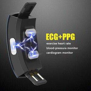 Image 4 - KAIHAI H66 высокое кровяное давление пульсометр PPG + ЭКГ умный Браслет фитнес трекер смотреть интеллектуальные gps траектории