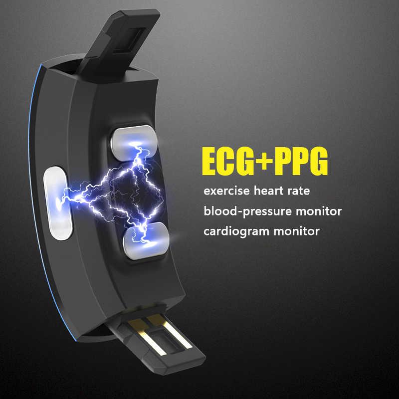 KAIHAI H66 misurazione della pressione arteriosa da polso banda heart rate monitor PPG ECG sport astuto della vigilanza del braccialetto di salute di Attività inseguitore di fitness elettronica wristband sveglia di son